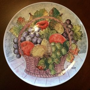 Fruit Motif Decorative Plate